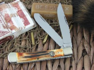 Hen and Rooster Trapper with Stag handles, Modified