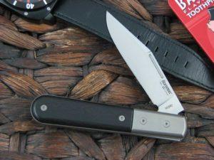Lion Steel Shuffler Clip Jack Ebony Handles M390 Steel CK0112