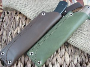 CK Tuscany Leather Large Fixed Blade Knife Sheath