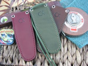 CK Tuscany Leather Large Fixed Front Pocket or Neck Sheath