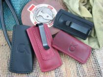 CK Tuscany Leather Clip Slip for Folding Knife