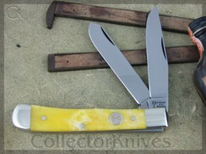 Boker Trapper Tree Brand Smooth Yellow Bone