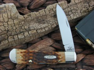Case Cutlery Tribal Lock Amber Jig Bone TB612010L TruSharp CA0247