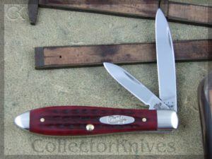 Case Cutlery Teardrop Jack 62028SS PocketWorn Red Bone