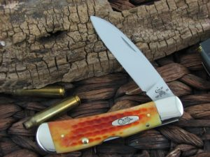Case Cutlery Tribal Lock Pocketworn Harvest Orange Bone TB612010L TruSharp CA17001