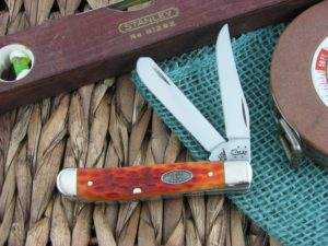 Case Knives Mini Trapper Whiskey Bone CV 6207 CA23007