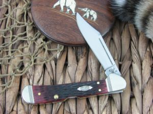Case Knives Small Copperlock Rogers Walnut Bone 61749L TruSharp CA26024