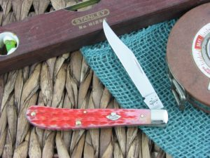 WR Case Slimline Trapper Burnt Salmon Bone TruSharp CA27053