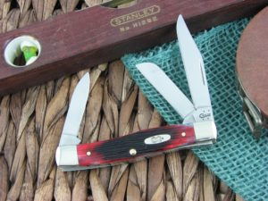 Case Knives Medium Stockman Sawcut Crimson Bone 63032 TruSharp CA29141