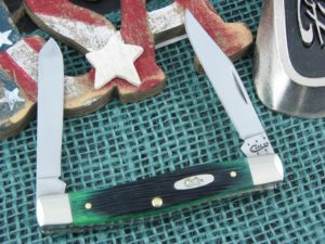 Case Knives Mini Moose Hunter Green Bone 62032 CA32116