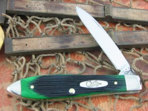 Case Cutlery Teardrop Jack Hunter Green Barnboard Bone TB61028 CA32117