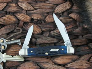 Case Knives Half Whittler Ocean Blue Bone TruSharp CA46666