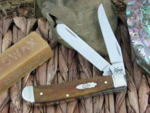 Case Knives Mini Trapper Smooth Antique Bone TruSharp 6207 CA58188