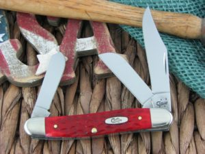 WR Case Medium Stockman Dark Red Bone 6347 CA6997