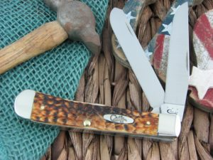 Case Knives Trapper Burnt Amber Bone 154CM 6254 CA9645