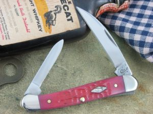 Case Knives Mini Copperhead Watermelon Bone CA9777
