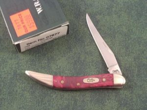 Case Knives Red Box Elder Wood Tiny Toothpick