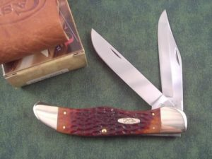 Case Knives Chestnut Bone CV Folding Hunter