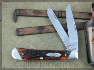 Case XX Autumn Bone Slant Bolster Trapper