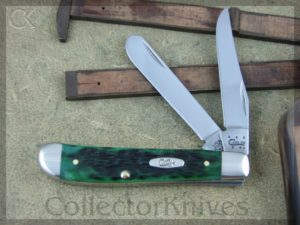 Case Cutlery Mini Trapper 6207SS Burmuda Green Bone