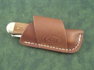 Case Horizontal Leather Carry Sheath (must accompany knife purchase)