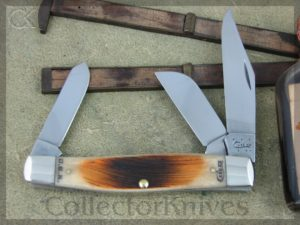 Case Knives Large Stockman Amber Sawcut Bone CA58172