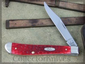 Case XX Slimline Trapper 61048 CV Dark Red Bone (CA6982)