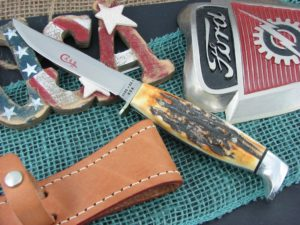 Case 1978 Red Letter Set 5FINN Stag Fixed Blade