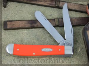 Case Cutlery Mini Trapper 4207 Orange Synthetic (CA80505)