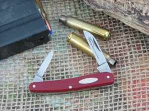 German Eye Brand Jim Bowie Small Half Whittler Red Composite Carbon 20R