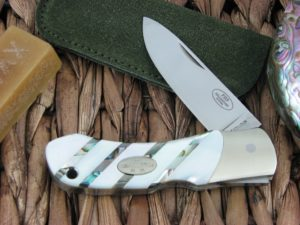 Fallkniven FH9 Pearl and Abalone Plain Laminated 3G Steel