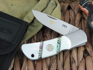 Fallkniven TK3mopc Pearl and Abalone Plain Laminated 3G Steel