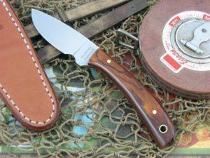 Hess Knifeworks Caper Cocobolo Wood 1095 steel