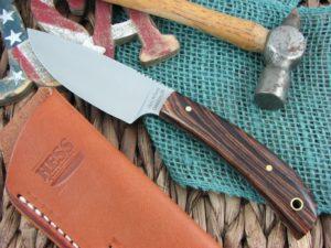 Hess Knifeworks Large Caper Cocobolo 1095 steel