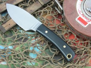 Hess Knifeworks Mini Caper Black Micarta 1095 steel
