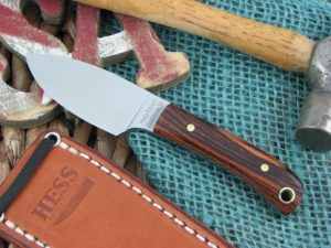 Hess Knifeworks Mini Caper Cocobolo Wood 1095 steel