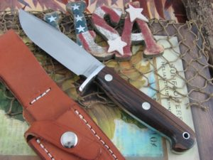 Hess Knifeworks Outdoorsman Cocobolo 1095 steel