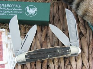 Hen and Rooster Large Congress Stag 224 Stainless 224-DS