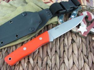 Landi Knives Bushcraft Orange G10 O1