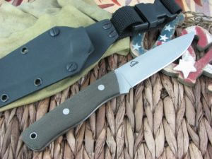 Landi Knives Bushcraft Rough OD Micarta O1