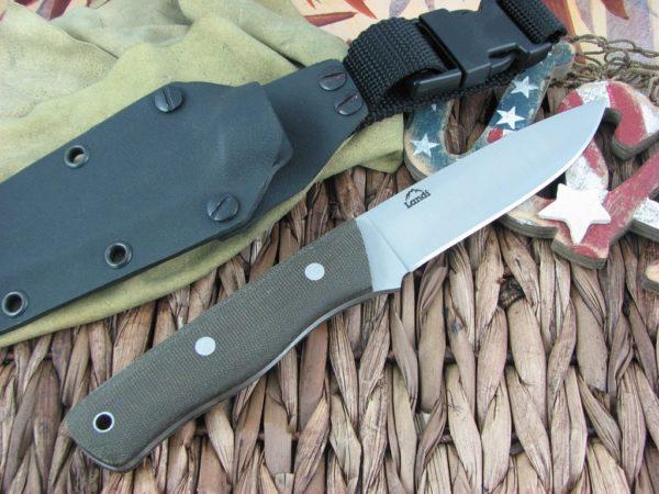 Landi Knives Bushcraft Rough OD Micarta O1 | CollectorKnives