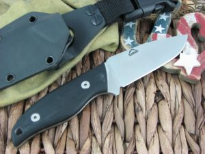 Landi Knives Kinzua Black G10 A2 Carbon