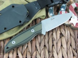 Landi Knives Kinzua Black and OD G10 A2 Carbon