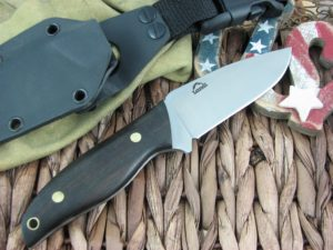Landi Knives Kinzua Ebony Wood A2 Carbon