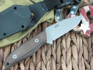Landi Knives Kinzua Tan and Black G10 A2 Carbon