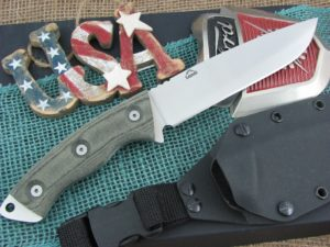 Landi Knives CT6 Black Canvas Micarta A2 Carbon