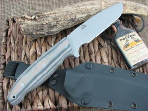 Landi Knives Ironbull Black-Tan G10 154CM