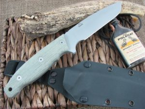 Landi Knives Ironbull OD Canvas Micarta 154CM