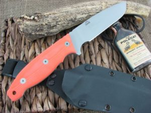 Landi Knives Ironbull Orange G10 154CM