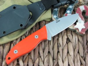 Landi Knives Kinzua Orange G10 A2 Carbon